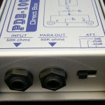 D I Box input & link sockets and pad switch
